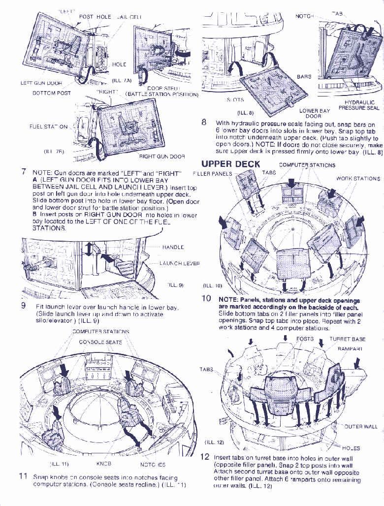 Filler Panel Cobra Terror Drome Part GI Joe ARAH 1986 Hasbro