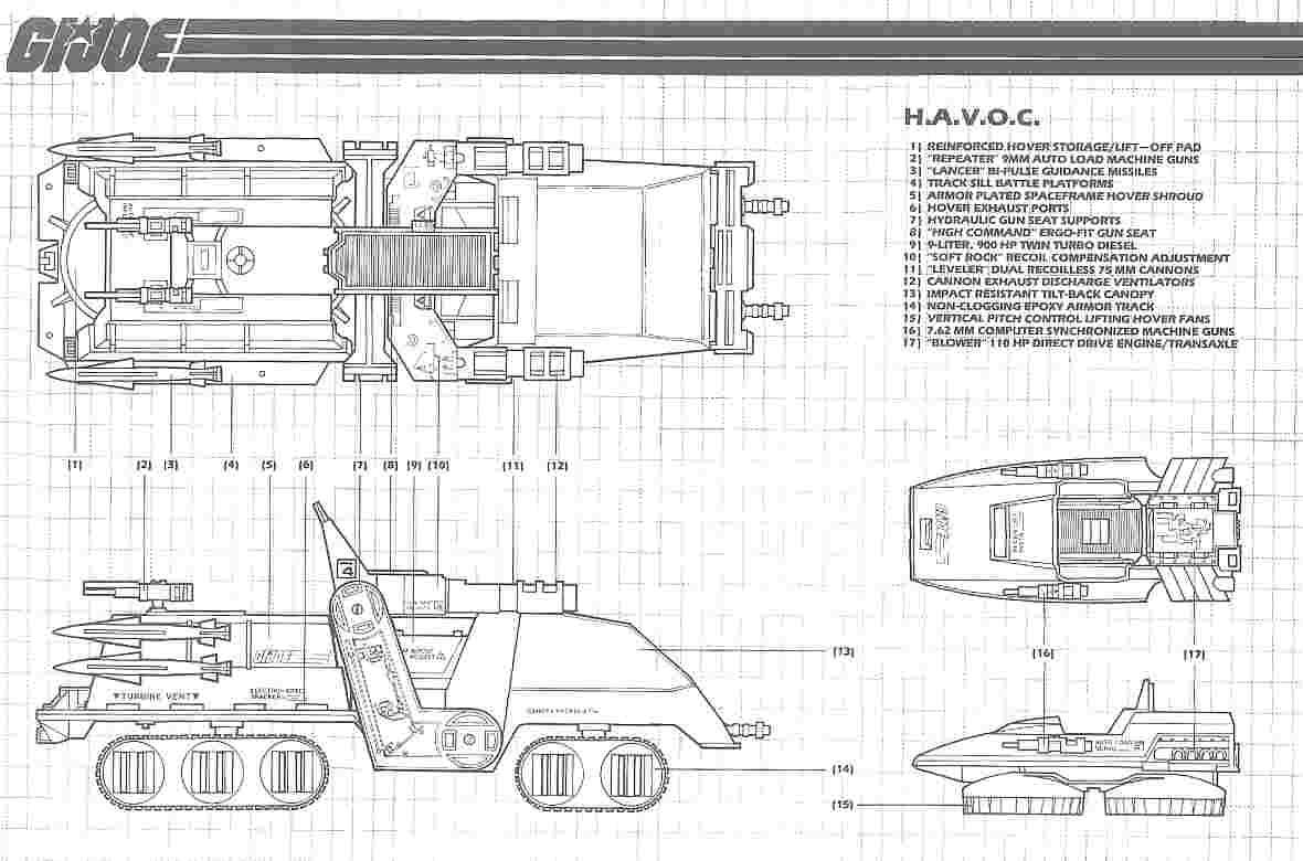 JOE Series 5 Vintage Blueprints Original Instructions AIR CHARIOT G.I